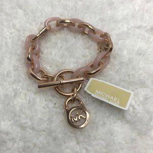 NWT - Michael Kors Rose Gold Toggle Link Bracelet